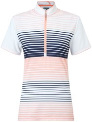 Callaway Stripe Mock Polo White