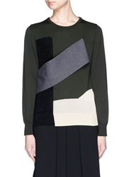 Toga Archives Colourblock Panel Wool Sweater Multi Colour