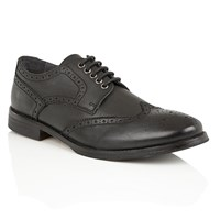 Frank Wright Merc Mens Lace Up Brogues Black Leather