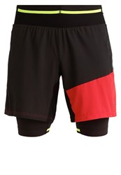 Gore Running Wear Fusion Sports Shorts Black Red