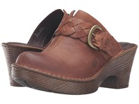 Born Mahal Russet Full Grain Leather Women's Clog Shoes Brown