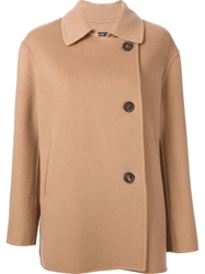 Sofie D'hoore Double Breasted Coat Nude And Neutrals