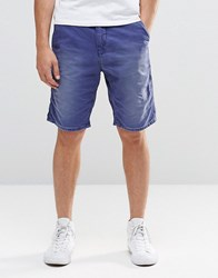Scotch And Soda Canvas Shorts Blue