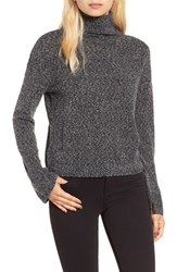 Women's Bp. Boxy Crop Turtleneck Sweater Grey Gate