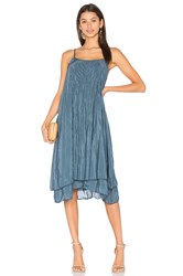Cp Shades Lia Silk Dress Blue