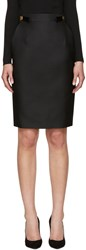 Dsquared Black Wool And Silk Army Skirt