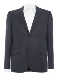 Howick Darby Birdseye Slim Fit Suit Jacket Charcoal