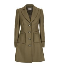 Red Valentino Fitted Military Coat Female