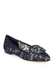 Dolce And Gabbana Embellished Lace Loafers Purple Dark Red Mauve White Navy Grey Pink Mustard