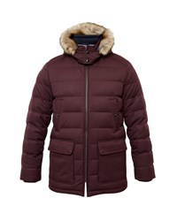 Ted Baker Norway Down Filled Parka Red