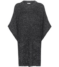 See By Chloe Cotton Wool And Mohair Blend Sweater Dress Grey