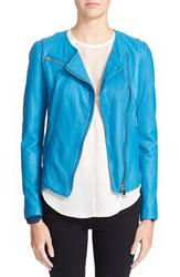 Women's Rebecca Taylor Garment Dyed Leather Moto Jacket