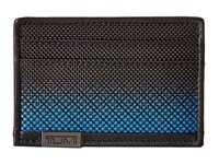 Tumi Alpha Slim Card Case Blue Dot Ombre Credit Card Wallet Black