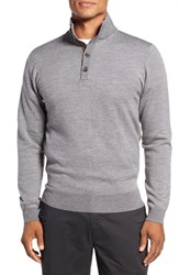 Bobby Jones Men's Birdseye Quarter Button Wool Sweater