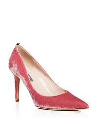 Sarah Jessica Parker Sjp By Fawn Velvet Pointed Toe High Heel Pumps 100 Bloomingdale's Exclusive Blush