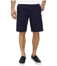 French Connection Isizwe Embroidered Twill Shorts Blueblood Men's Shorts Navy