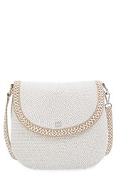 Eric Javits Squishee Packable Woven Demi Pouch Shoulder Bag Ivory Ice
