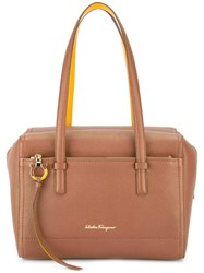 Salvatore Ferragamo 'Addy' Tote Brown