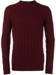 Roberto Collina Cable Knit Jumper Red
