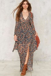 Salt Of The Earth Floral Maxi Dress Rust