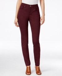Styleandco. Style And Co. Curvy Fit Skinny Leg Colored Jeans Only At Macy's Deep Scarlet