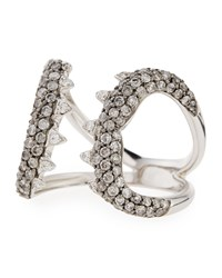 Stephen Webster 18K Shark Jaws Ring With Diamonds Size 7