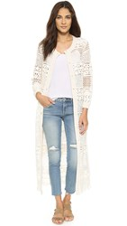 Sea Long Lace Cardigan Cream