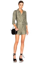Frame Denim Romper In Green