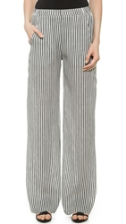Zero Maria Cornejo Kati Pants Black White Stripe