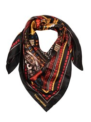 Dsquared Printed Silk Square Scarf