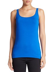 Lord And Taylor Stretch Roundneck Tank Olympic Blue