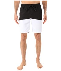 Publish Silas Boardshorts With Color Blocking Black Men's Swimwear