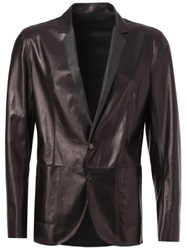Drome Leather Blazer Black