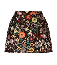Red Valentino Fancy Flower Jacquard Skort Female Black