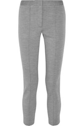 Adam By Adam Lippes Stretch Wool Blend Skinny Pants Gray
