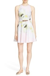 Ted Baker Women's London 'Tuliaa' Belted Floral Print Neoprene Skater Dress