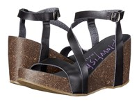 Blowfish Hazard Black Dyecut Pu Women's Wedge Shoes