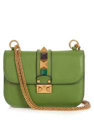 Valentino Lock Rolling Small Leather Shoulder Bag Green
