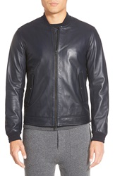 Vince Lambskin Leather Bomber Coastal
