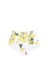 Dolce And Gabbana Lemon Pint High Waisted Bikini Briefs