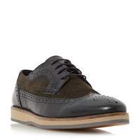 Linea Banoffee Two Tone Wedge Brogue Shoe Black