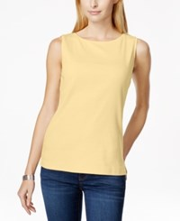 Karen Scott Sleeveless Boat Neck Tank Top Only At Macy's New Lemon
