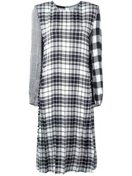 Calvin Klein Collection Contrast Plaid Dress Black