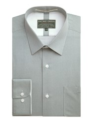 Racing Green Century Print Formal Shirt Blue