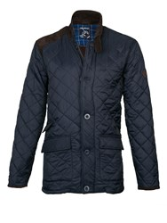 Raging Bull Quilted Jacket Navy