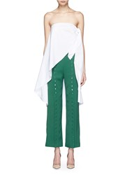 Rosie Assoulin Side Knot Cotton Sarong Long Top White