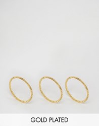 Gorjana Ring Rope Set Of 3 Rings Gold