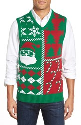 Men's Ugly Christmas Sweater 'Holiday' V Neck Sweater Vest