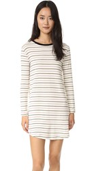 Knot Sisters Crane Tee Dress Natural Stripe