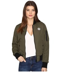 Converse Core Reversible Ma 1 Bomber Jacket Herbal Women's Coat Green